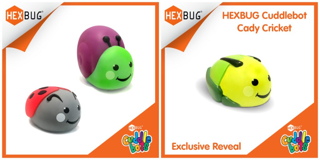 HEXBUG Cuddlebots have three brand-new characters Cady Cricket, Libby Ladybug, and Simon Snail