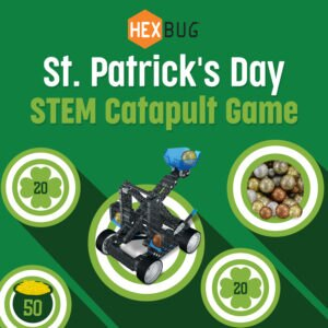 #HEXDIY St. Patrick's Day STEM Catapult Game