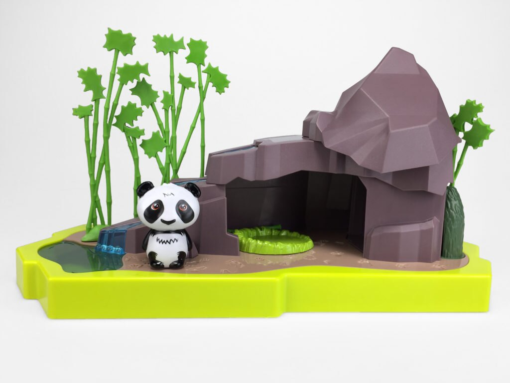 Lin the Panda Bear with Cave