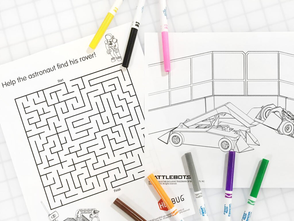 Free Printable Activity Pages for Kids - HEXHUB