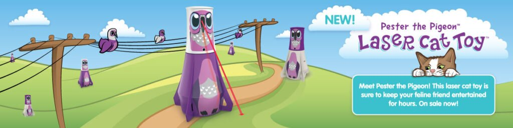 Pester the Pigeon new product from HEXBUG, laser cat and pet toy for active play
